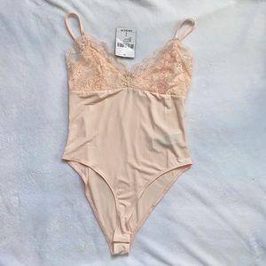 Blush pink Lace bodysuit new
